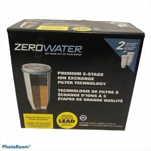 Zero Water Filters 2 Replacement Filters NEW